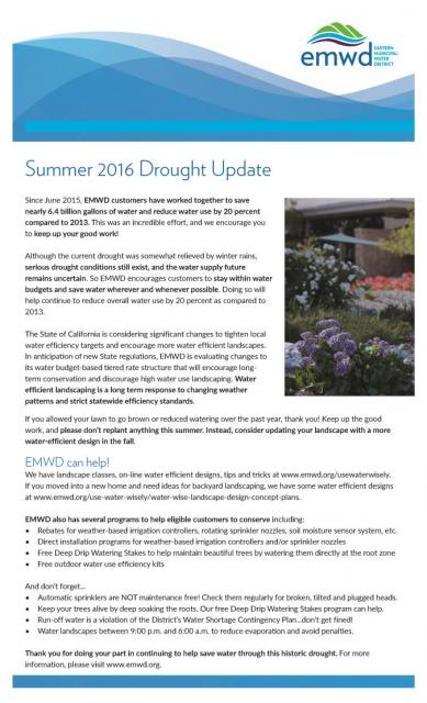 2016 summer drought update.