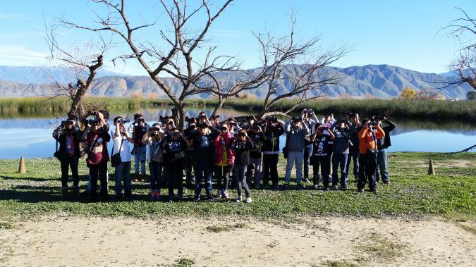 Students at the Water Reclamation Facility Wetlands.